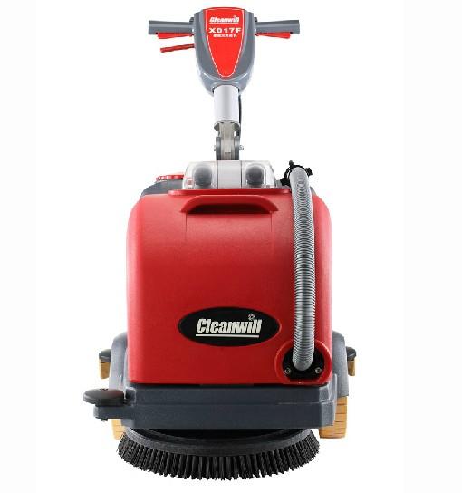 克力威折叠式洗地机小型手推式洗地机折叠式洗地机XD17F60